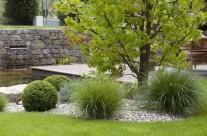 Garten mit Pizzahaus
